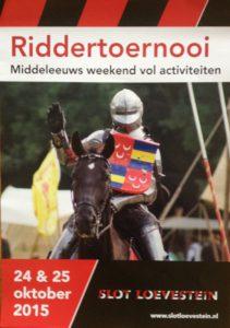Poster Riddertoerooi Slot Loevestein
