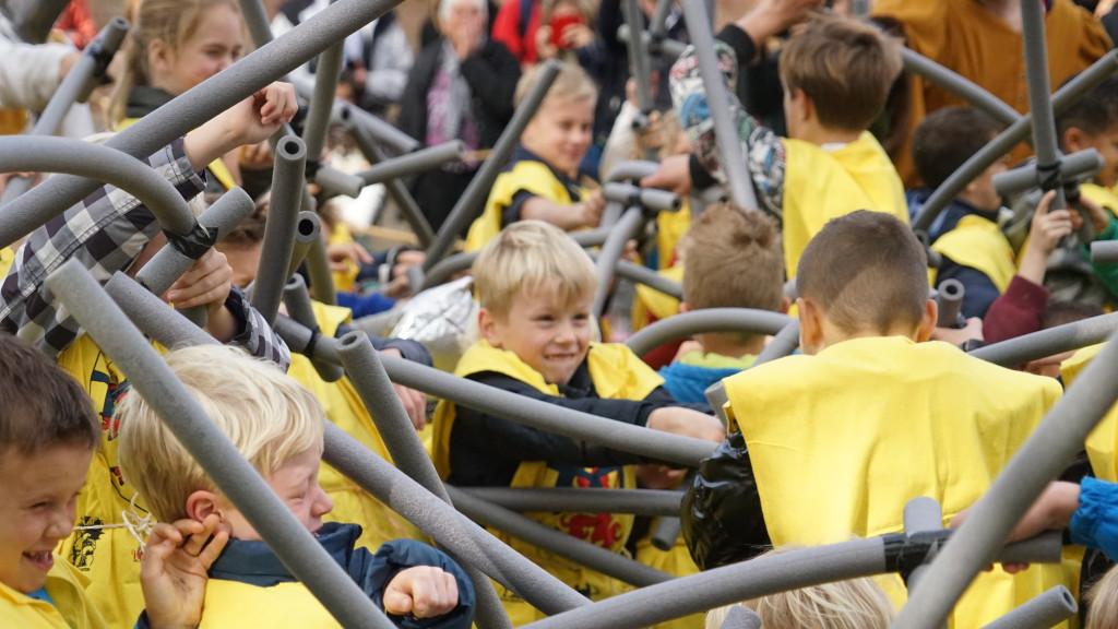 HISTORIE-KS Kasteelschutters Longbowman Handboogschieten Riddertoernooi Slot Loevestein Organisator Historische Evenementen Kiddy Battle 34