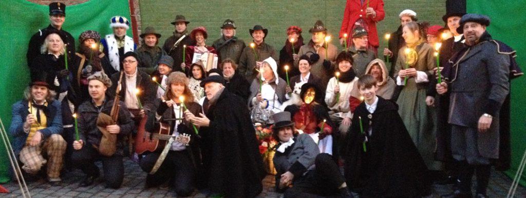 Kasteelschutters Historie-ks Huurling.nu Boogschieten Handboogschieten Middeleeuwen Workshops Hofkwartier Bizz Charles Dickens Koning Winter LS-Talent Groepsfoto